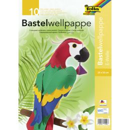 folia Bastelwellkarton, 250 x 350 mm, 10 Blatt, sortiert