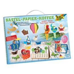 folia Bastelpapier-Koffer Ganzjahr, 110-teilig