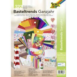 folia Bastelpapier-Set Trends Ganzjahr, 322-teilig