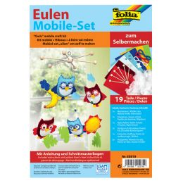 folia Mobile-Set Eulen, 19-teilig