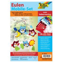 folia Mobile-Set Eulen, 19-teilig