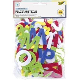 folia Bastelfilz-Stanzteile Buchstaben, selbstklebend