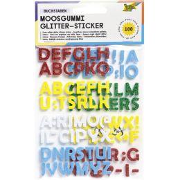 folia Moosgummi Glitter-Sticker, Buchstaben