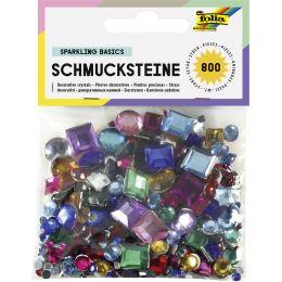 folia Schmucksteine, sortiert eckig und rund, sortiert