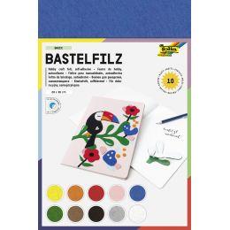 folia Bastelfilz, 200 x 300 mm, 150 g/qm, selbstklebend