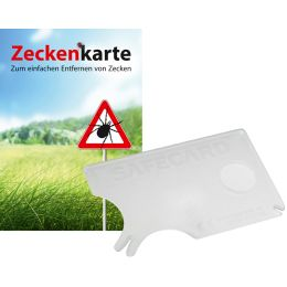 RNK Zeckenkarte Safecard mit Lupe, 85 x 54 mm