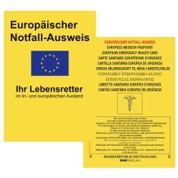 RNK Europäischer Notfallausweis, 105 x 75 mm, im Display