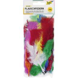 folia Flauschfedern, 10 g, farbig sortiert