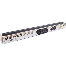 folia Tafelfolie/Kreidefolie, aus PVC, 450 mm x 2 m, schwarz