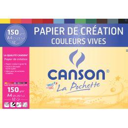 CANSON Tonpapier in Sammelmappe, DIN A4, 150 g/qm