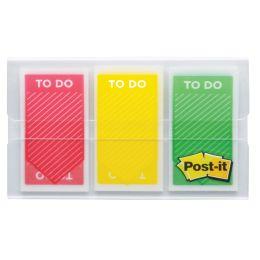 Post-it Haftstreifen Index ToDo, 25,4 x 43,2 mm, 3-farbig