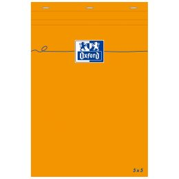 Oxford Notizblock, 85 x 120 mm, kariert, 80 Blatt, orange