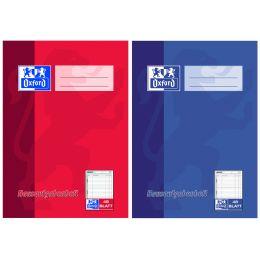 Oxford Hausaufgabenheft, DIN A5, 48 Blatt, farbig sortiert