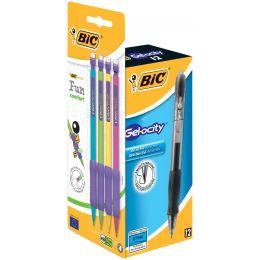 BIC Gelschreiber Gelocity,schwarz + Druckbleistift,PROMOPACK