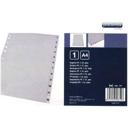 proOFFICE Kunststoff-Register, Zahlen, A4, 12-teilig