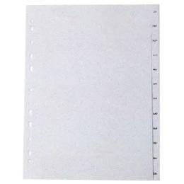 proOFFICE Kunststoff-Register, Monate, A4, Jan.-Déc. (FR)