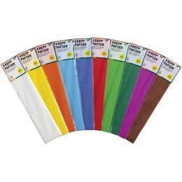 folia Krepp-Papier, 500 mm x 2,5 m, 32 g/qm, farbig sortiert