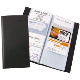sigel Visitenkarten-Mappe, Lederoptik, schwarz, matt