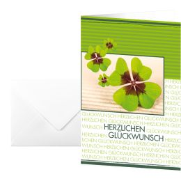 sigel Glückwunschkarte Fortune, (B)115 x (H)170 mm