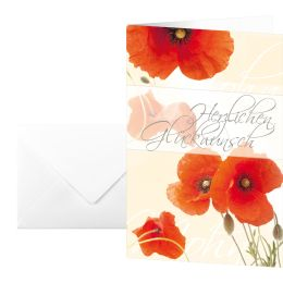 sigel Glückwunschkarte Red Poppies, (B)115 x (H)170 mm