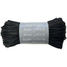 Clairefontaine Raffia-Naturbast, schwarz