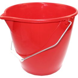 Peggy Perfect Eimer mit Stahlbügel, 12 Liter, rot