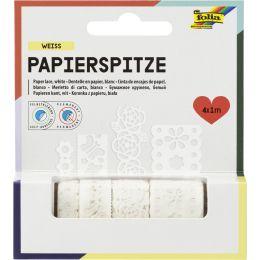 folia Papierbordüren Creative, selbstklebend, weiß