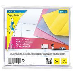 Peggy Perfect Vlies-Allzwecktuch, 6er Pack