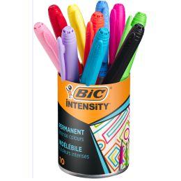 BIC Permanent-Marker Marking Color, im 10er Köcher
