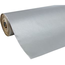 Clairefontaine Geschenkpapier Unicolor, auf Rolle, silber