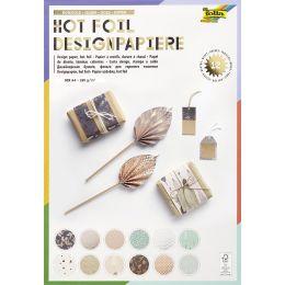 folia Designpapierblock Hotfoil, DIN A4, 165g/qm, 12 Blatt