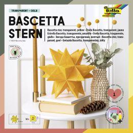 folia Faltblätter Bascetta-Stern, gelb-transparent
