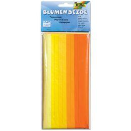 folia Seidenpapier, (B)500 x (H)700 mm, 20 g/qm, Mix gelb