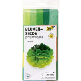 folia Seidenpapier, (B)500 x (H)700 mm, 20 g/qm, Mix grün