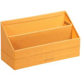 RHODIA Briefständer, aus Kunstleder, orange