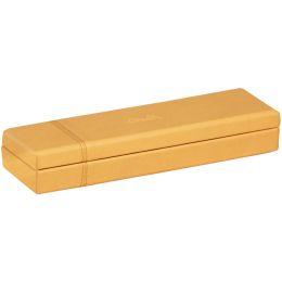 RHODIA Stiftebox, aus Kunstleder, orange