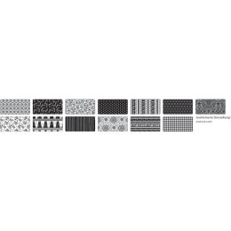 folia Motivkarton Schwarz / Weiß, 500 x 700 mm, 270 g/qm