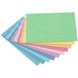 folia Motivkarton Streifen klein, 500 x 700 mm, 300 g/qm