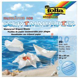 folia Faltblätter aus Schwimmpapier, 200 x 200 mm, weiß