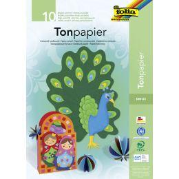 folia Tonpapierblock, DIN A4, 130 g/qm, 20 Blatt