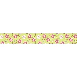 folia Deko-Klebeband Washi-Tape, Blütenranke grün