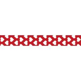 folia Deko-Klebeband Washi-Tape, Herzen rot