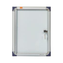 nobo Schaukasten, extraflach, Metall-Rückwand, 1 x DIN A4
