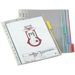 DURABLE Sichttafel FUNCTION, DIN A4, transparent, Tab: rot