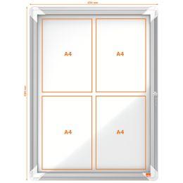 nobo Schaukasten Premium Plus, Metall-Rückwand, 4 x DIN A4