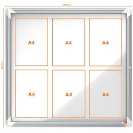 nobo Schaukasten, Metall-Rückwand, Außenbereich, 6 x DIN A4