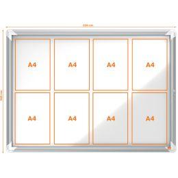 nobo Schaukasten, Metall-Rückwand, Außenbereich, 8 x DIN A4