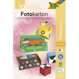 folia Fotokartonblock, 220 x 330 mm, farbig sortiert