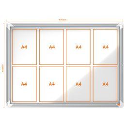 nobo Schaukasten, Metall-Rückwand, Innenbereich, 8 x DIN A4