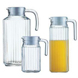 Esmeyer Arcoroc Glaskrug Quadro, mit Deckel, 1,7 Liter